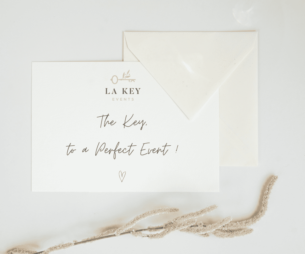 La Key Events stationary note with logo